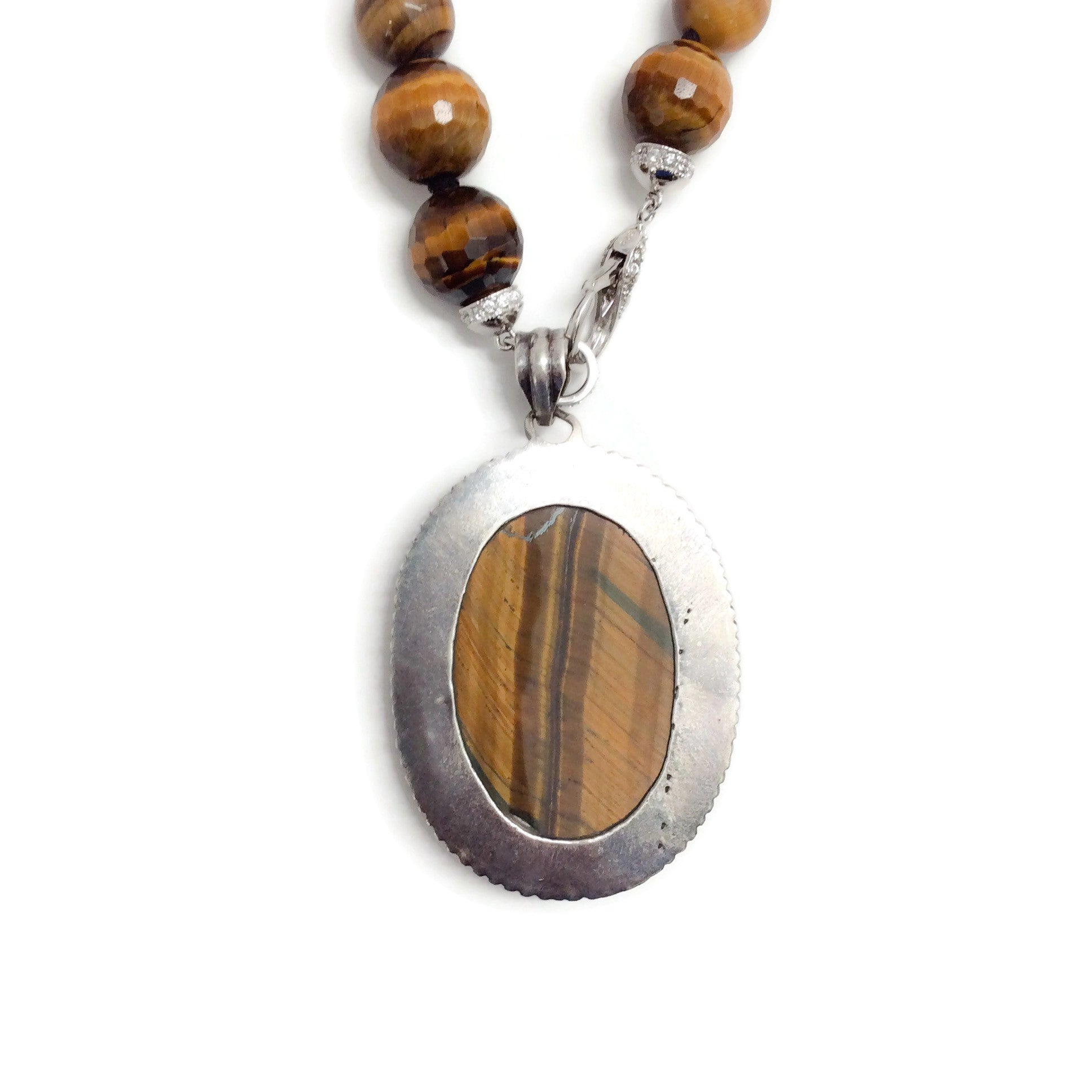 Randy Feder Multi Brown Tigers Eye Necklace