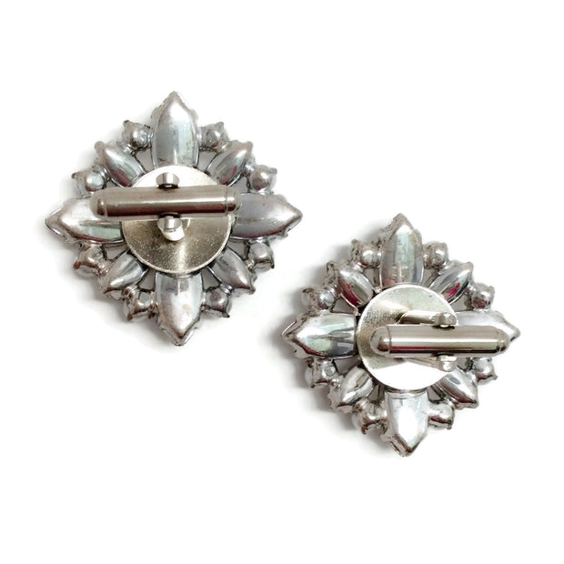 Erickson Beamon Crystal Pearl Cuff Links