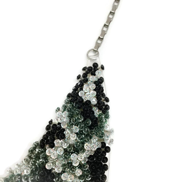 Forest of Chintz Black Sequin Collar Necklace