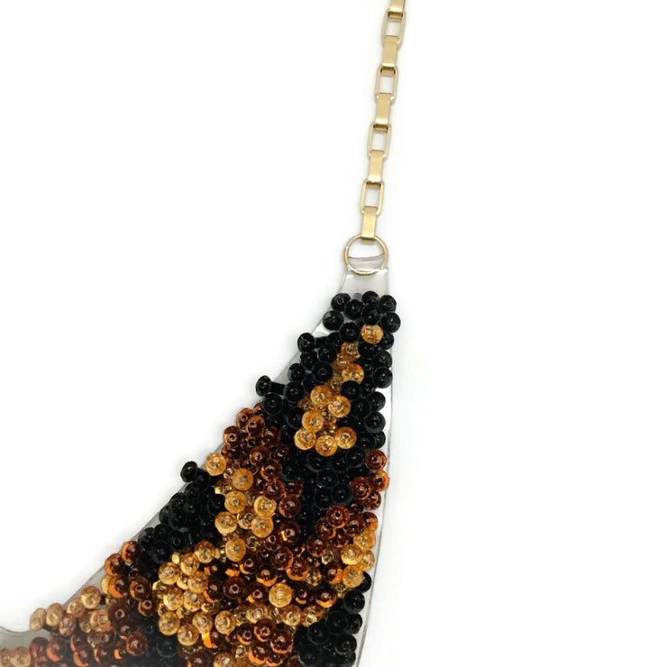 Forest of Chintz Bronze Sequin Collar