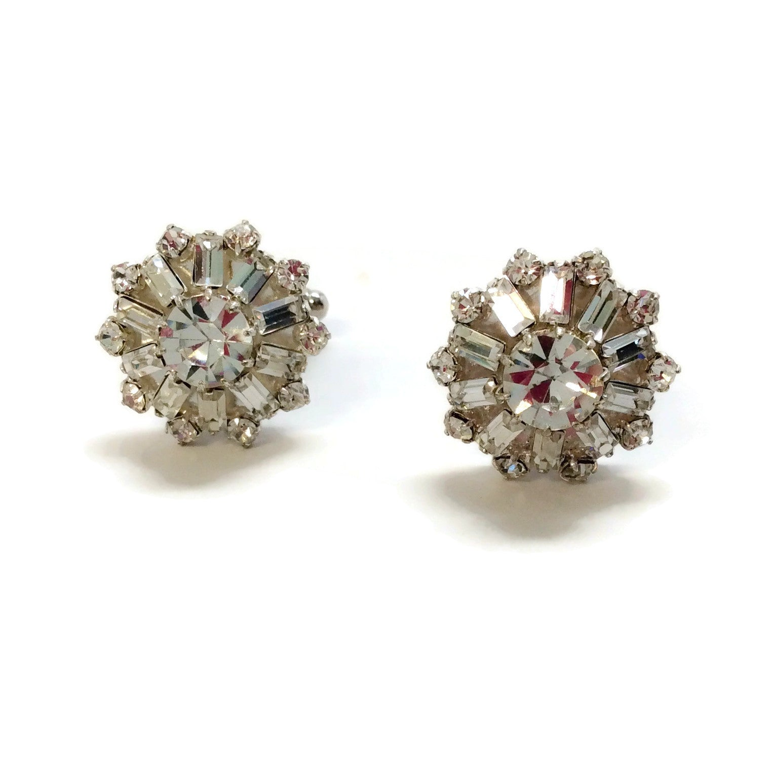 Erickson Beamon Crystal Round Cuff Links