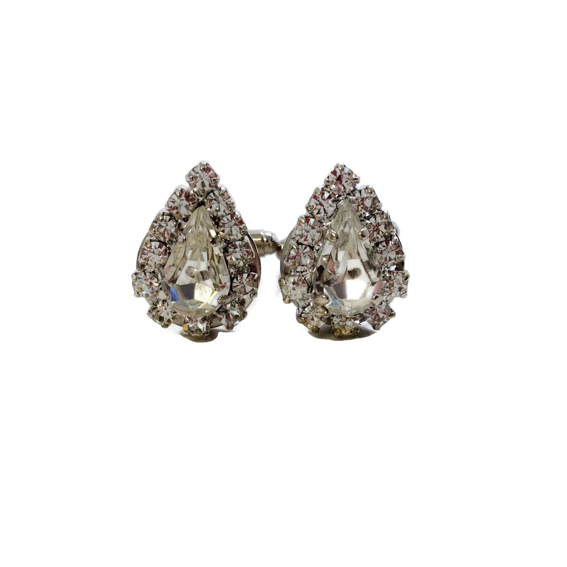 Erickson Beamon Crystal Pear Cuff Links