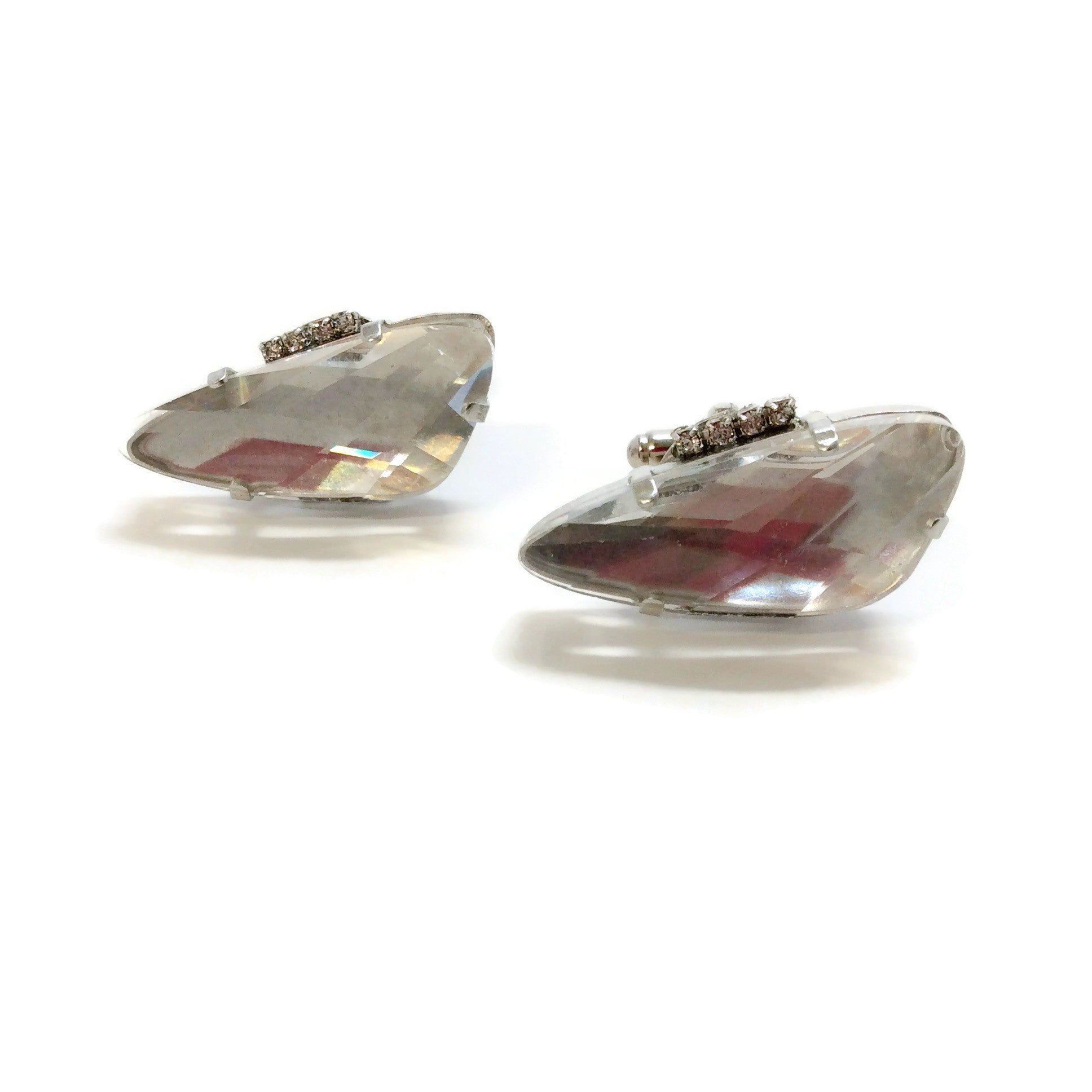 Erickson Beamon Crystal Cut Cuff Links
