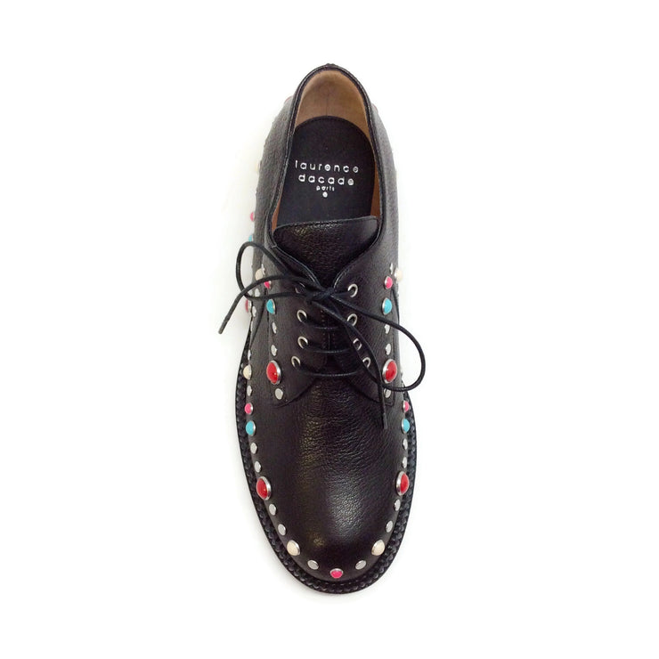 Laurence Dacade Black Jeanne Lace Up Oxfords