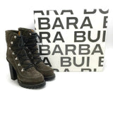 Barbara Bui Grey Suede Lace Up Platform Boots