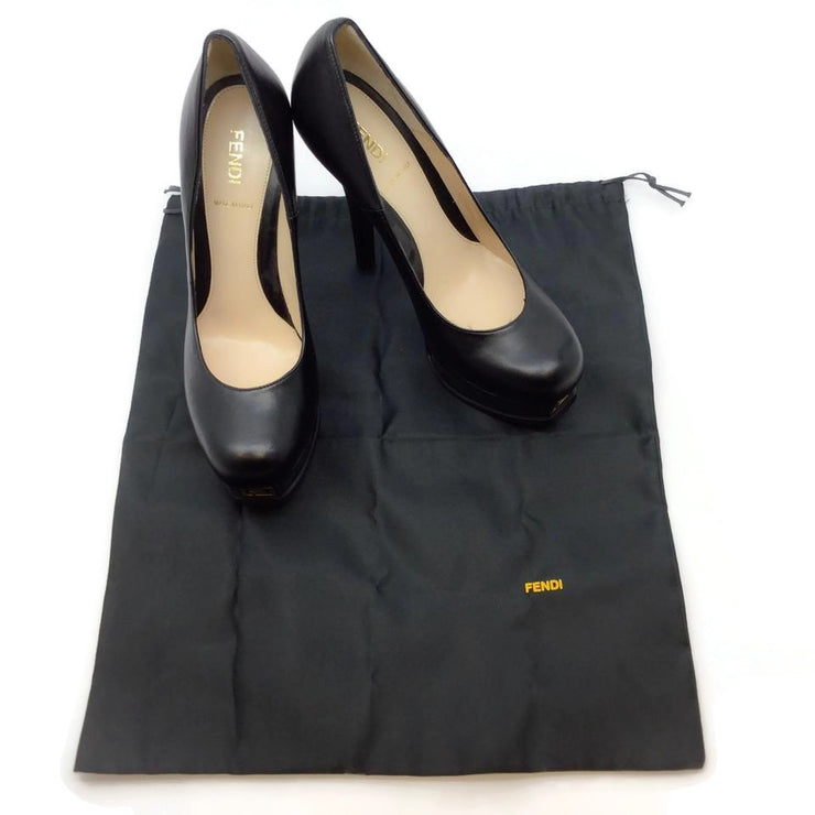 Fendi Black Logo Platforms