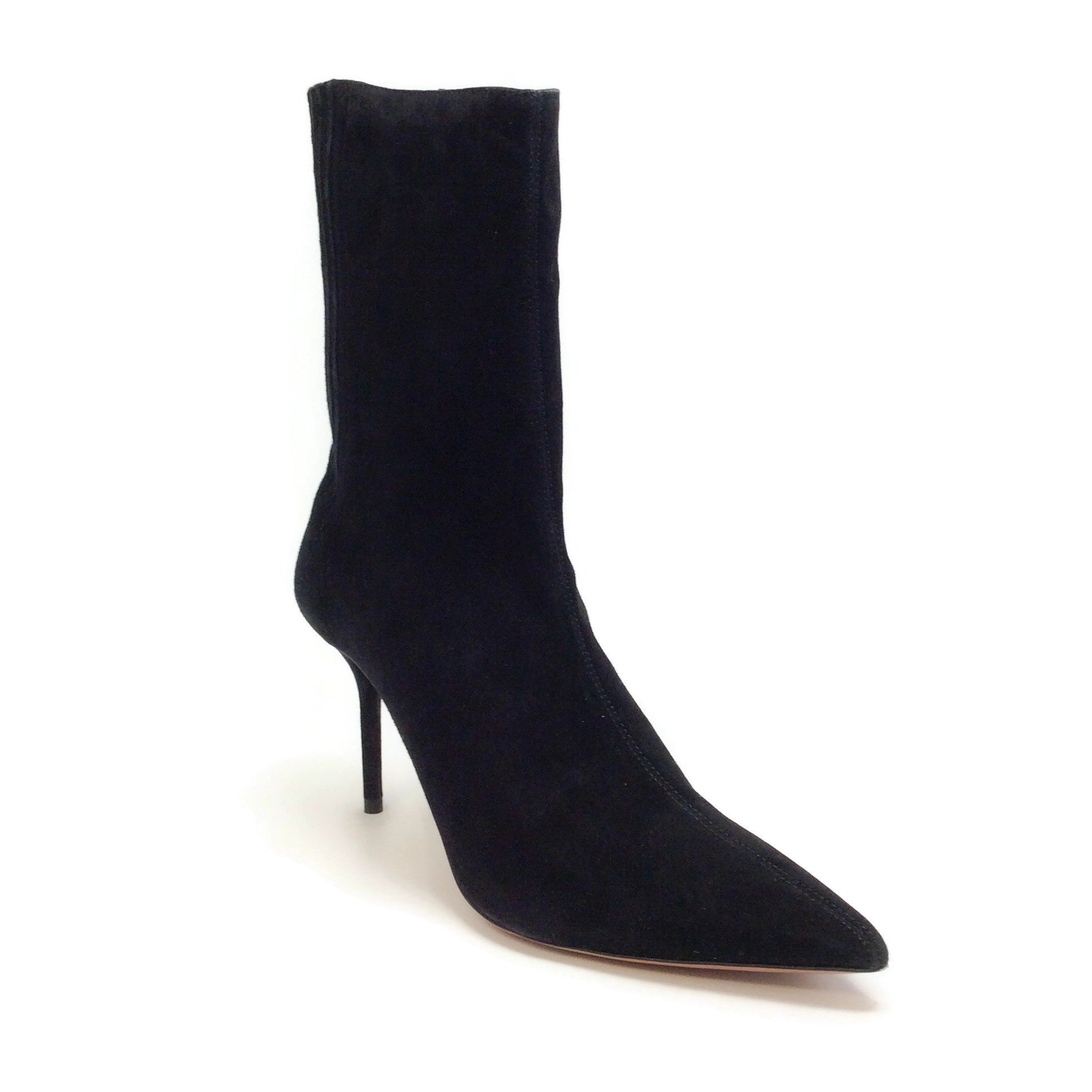 Aquazzura Black Suede Saint Honore 85 Boots