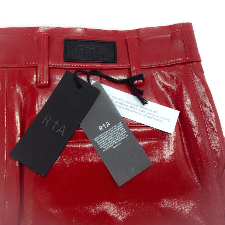 RtA Red Patent Leather Callie Skirt