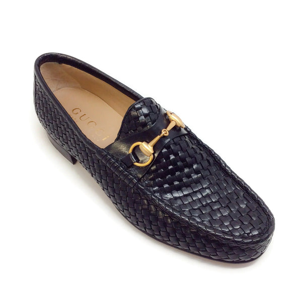 Gucci Men's Woven Loafer with Bit Detail