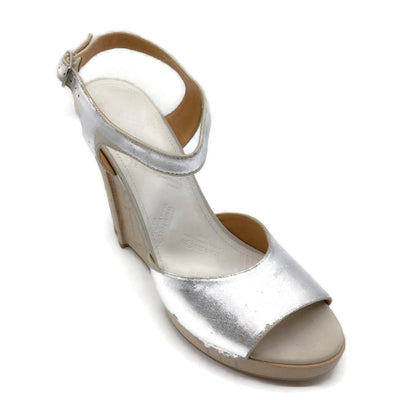 Maison Margiela Silver Painted Wood Wedges