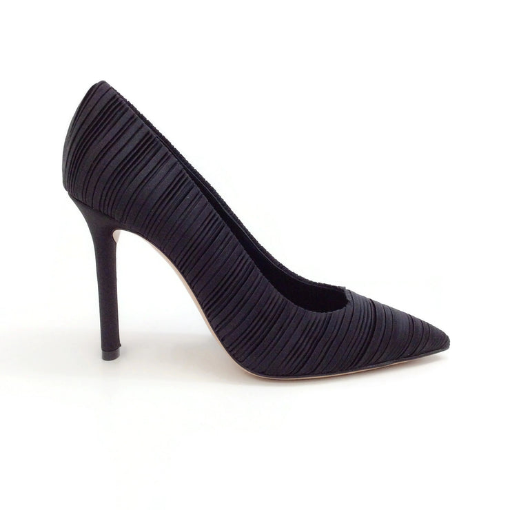 Casadei Black Plisse Pumps