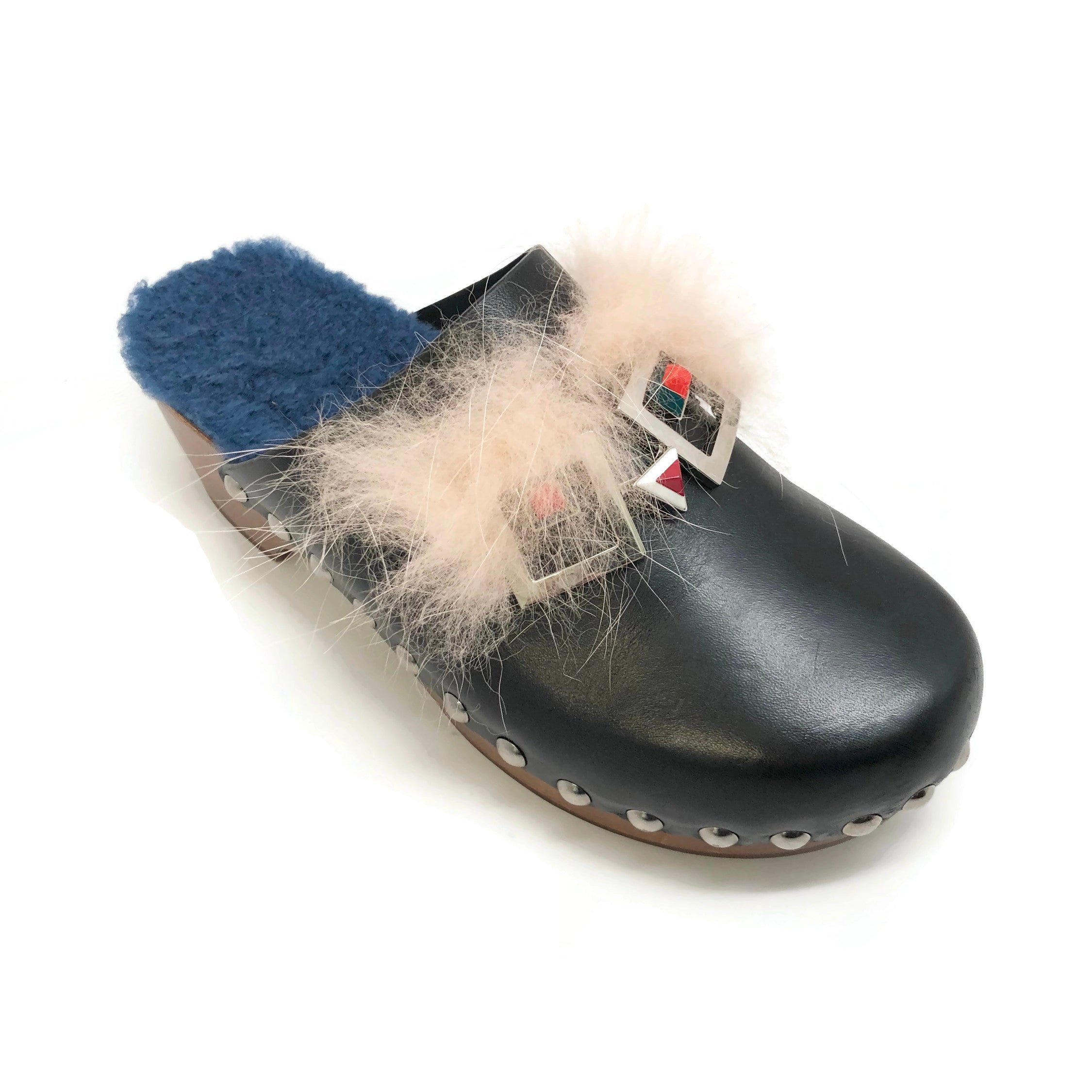 Fendi Black Monster Clogs