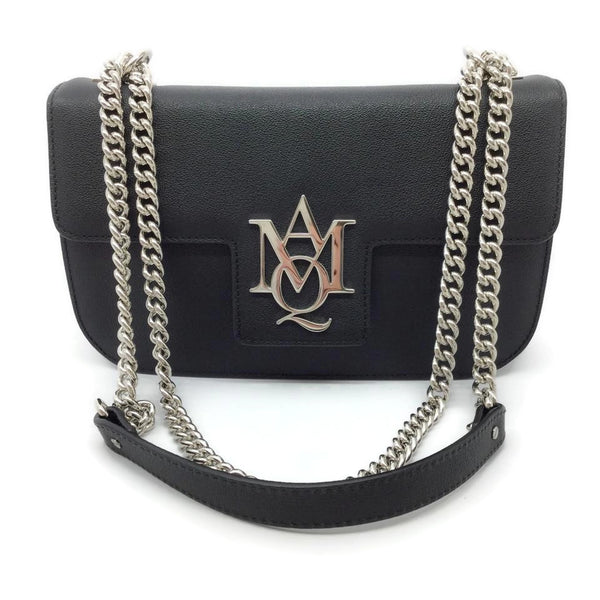 Alexander McQueen Insignia Black Leather Cross Body Bag