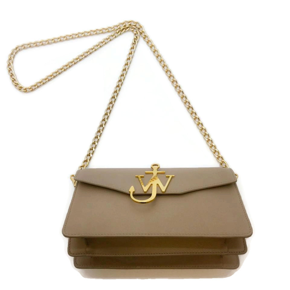 J.W.Anderson Insignia Beige Leather Cross Body Bag