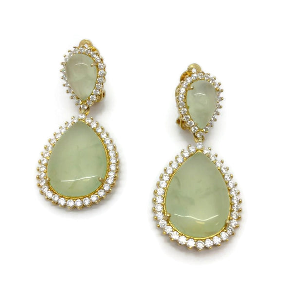Bijoux Green Jade Earrings