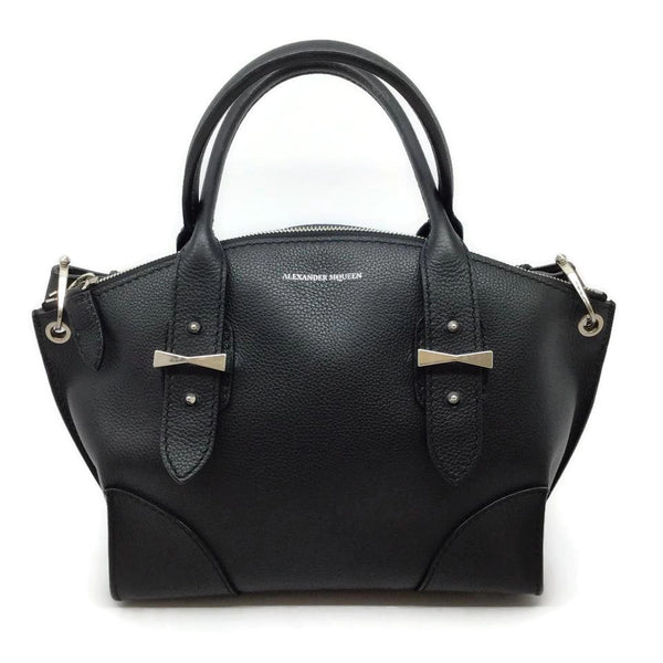 Alexander McQueen Small Legend Black Leather Shoulder Bag