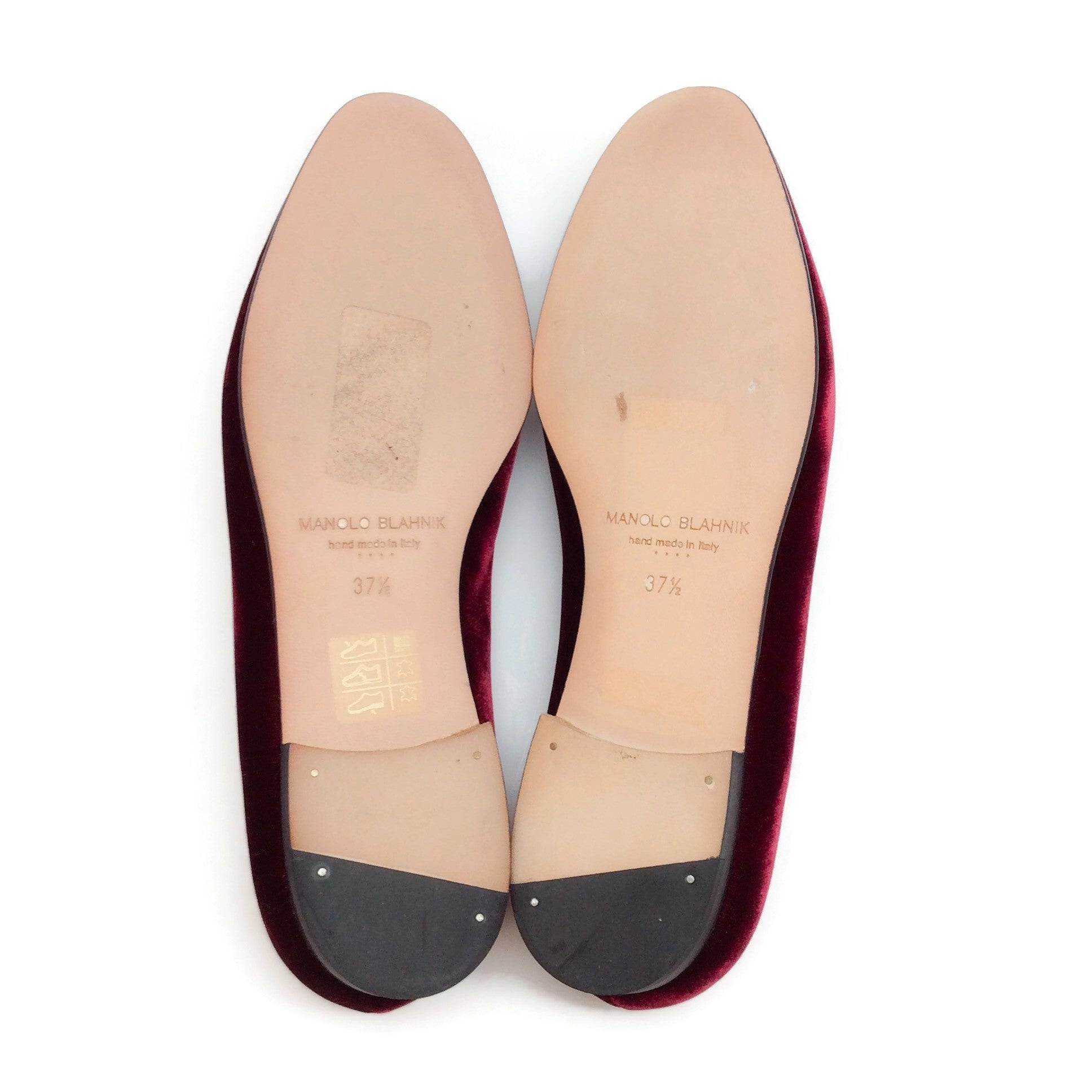 Oxblood Crystal Embellished Smoking Slippers