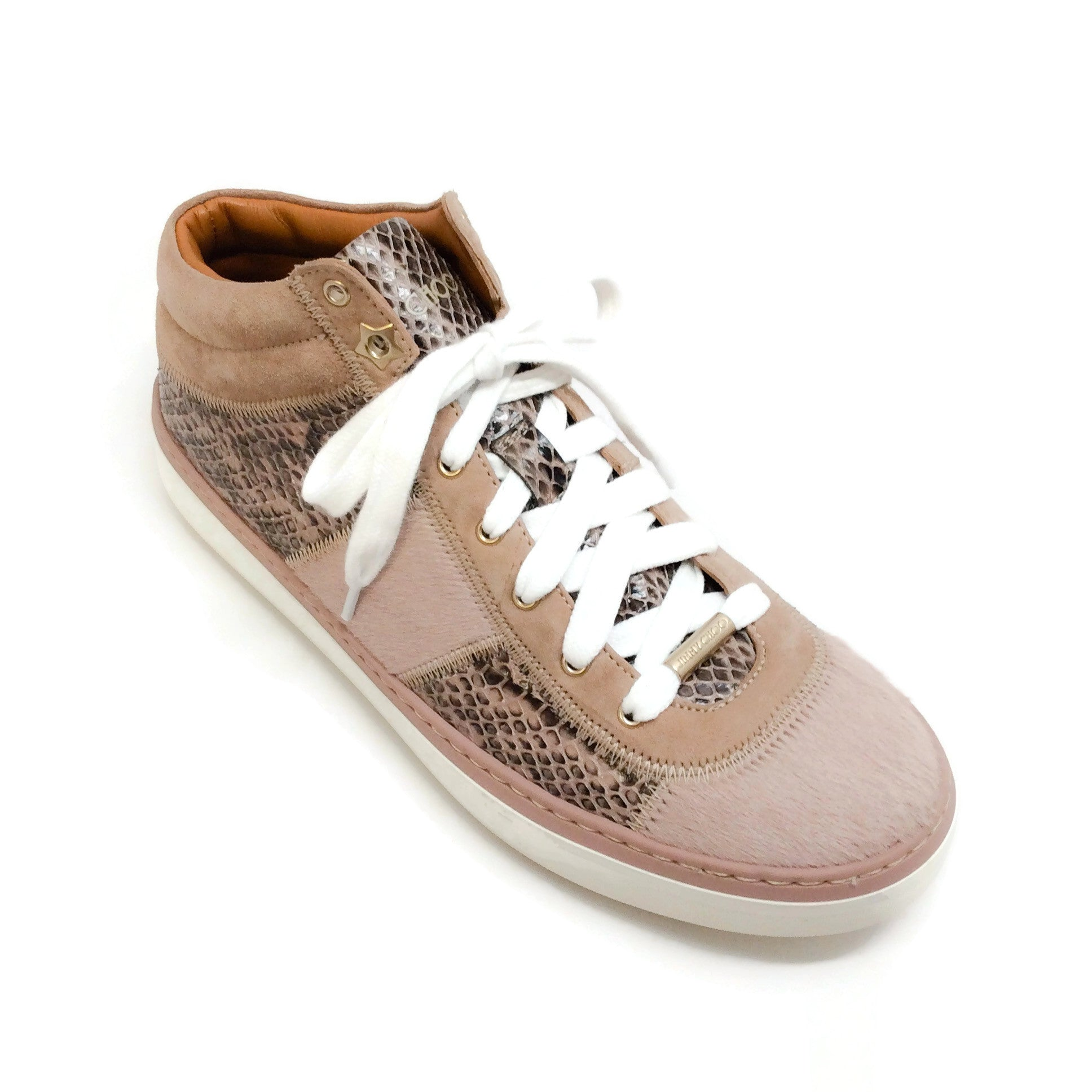Jimmy Choo Blush Snake / Pony Sneakers