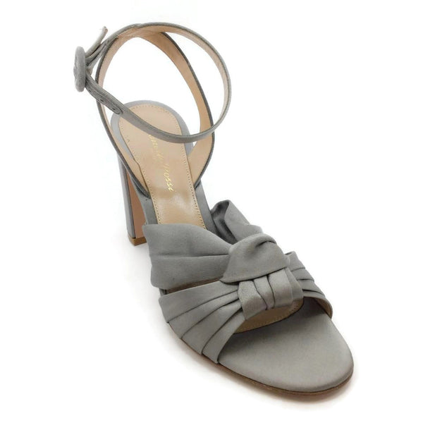 Gianvito Rossi Silver Satin Sandals