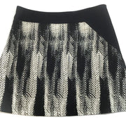Kimora Lee Simmons Black/White The Brushstroke Wool Skirt