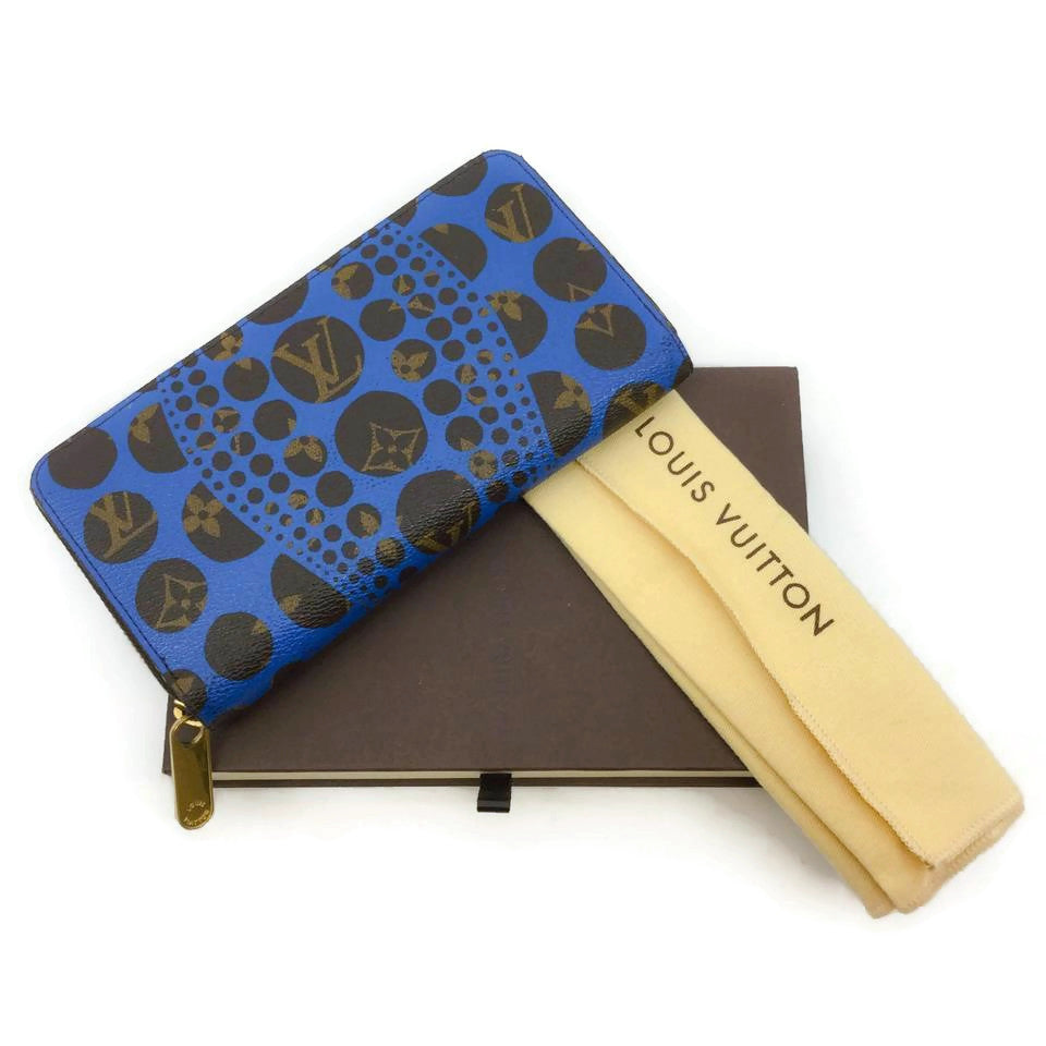 Louis Vuitton Blue Limited Edition Kusama Wallet