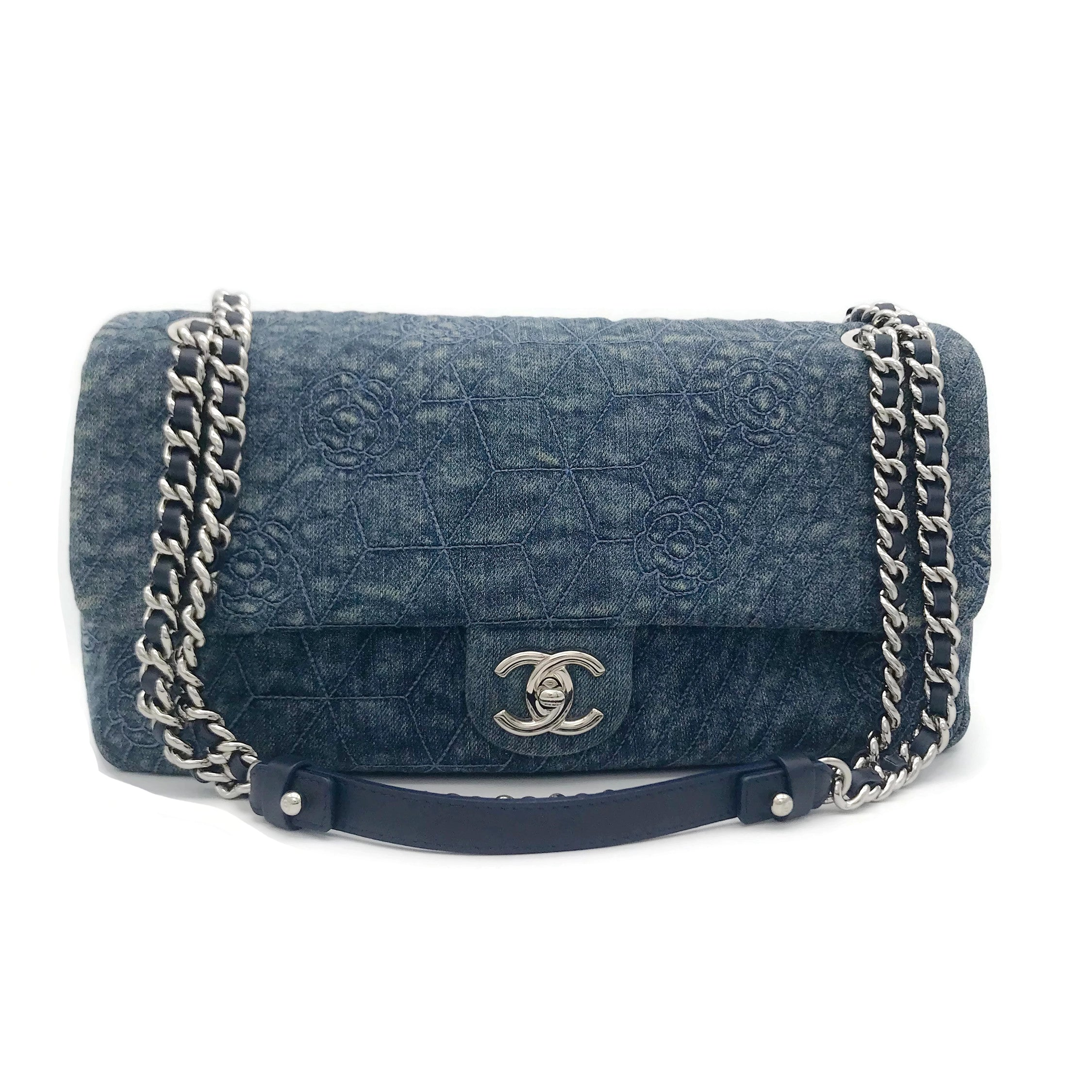 Chanel Flap Blue Denim Shoulder Bag