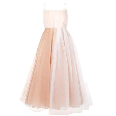 Alex Perry Nude/White Lovell Portrait Crinoline Tulle Dress