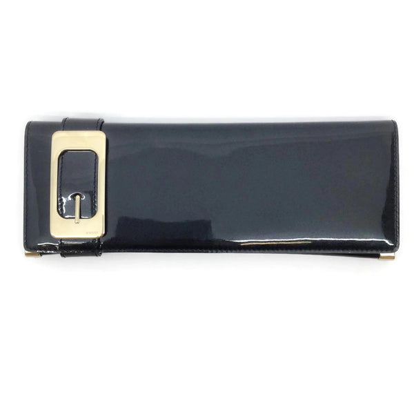 Gucci Charcoal Patent Leather Wallet