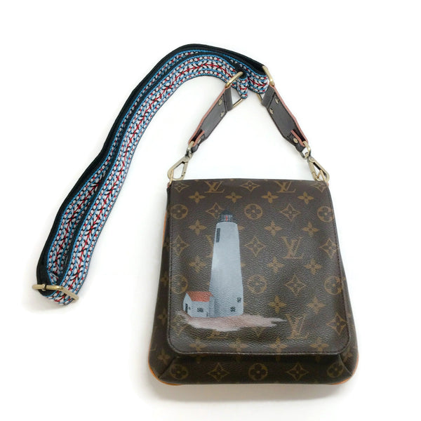 New Vintage Louis Vuitton Musette Salsa Brown Monogram Canvas Cross Body Bag