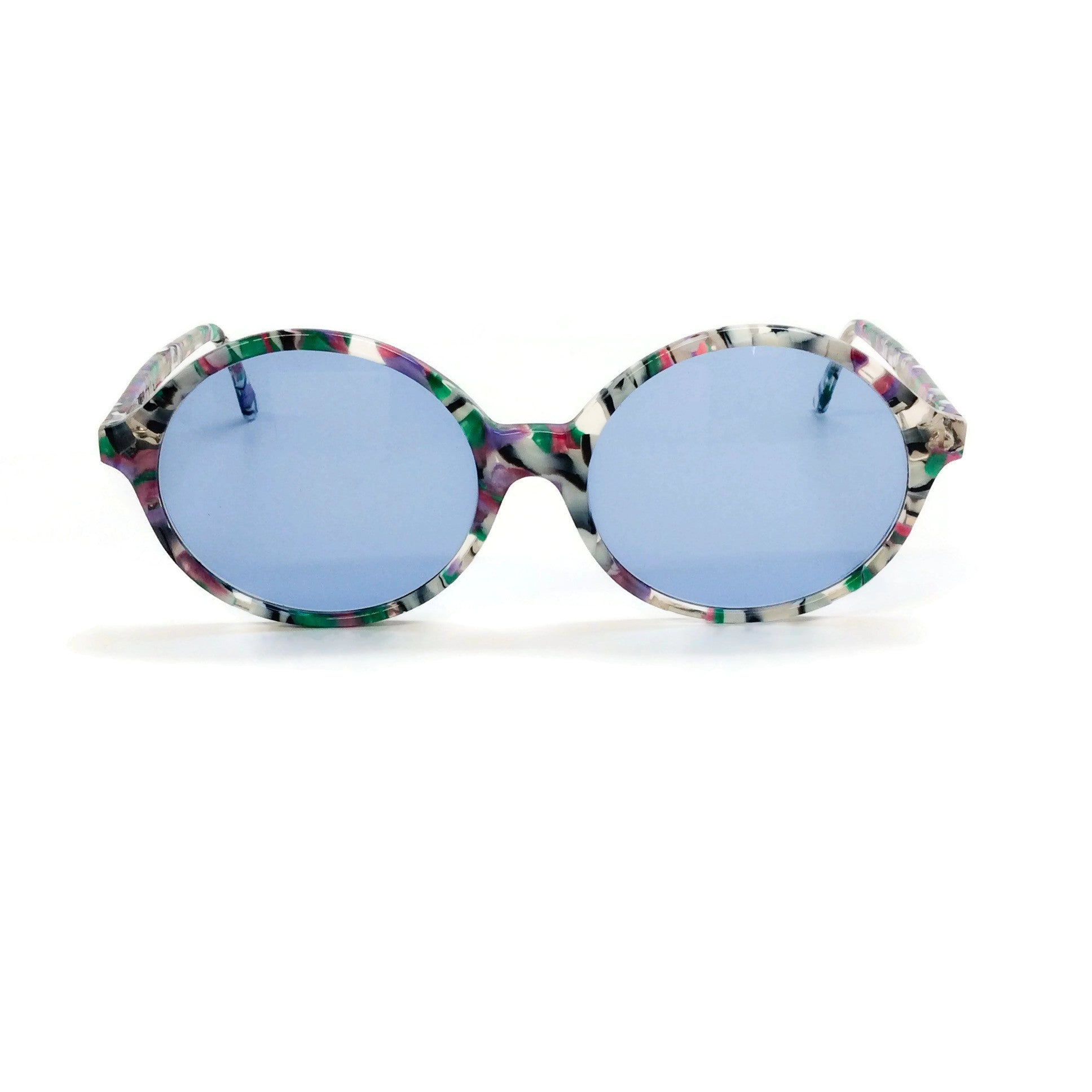 Friedrich's & Campbell Multicolor Round Frame Sunglasses