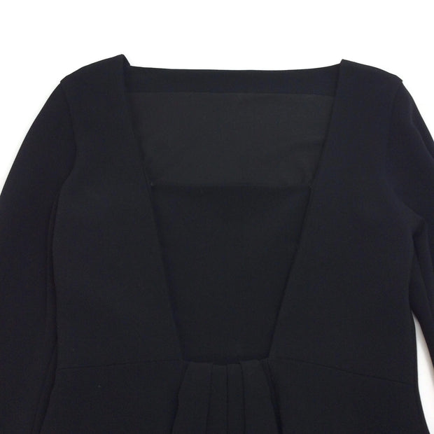 Brandon Maxwell Black Waterfall Back Blouse