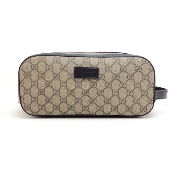 Gucci GG Supreme Canvas Leather Dopp Kit