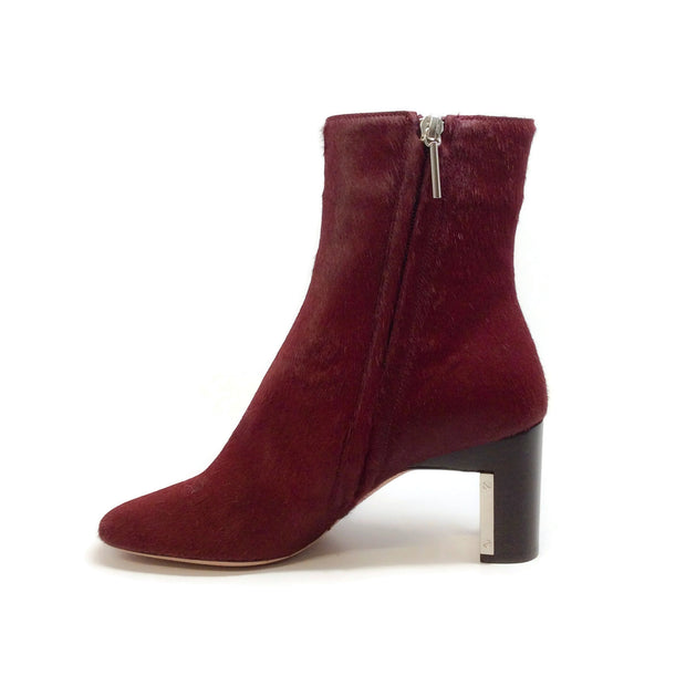 Rosetta Getty Oxblood Pony Ankle Boots