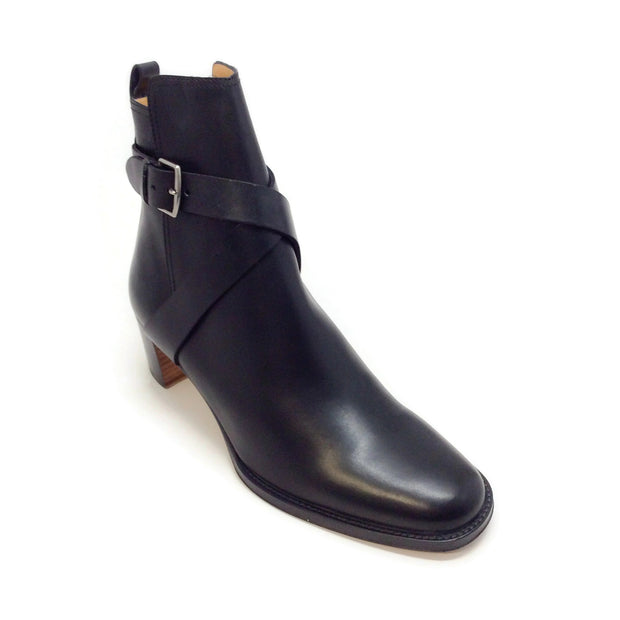 Hermès Black Wrap Ankle Boots