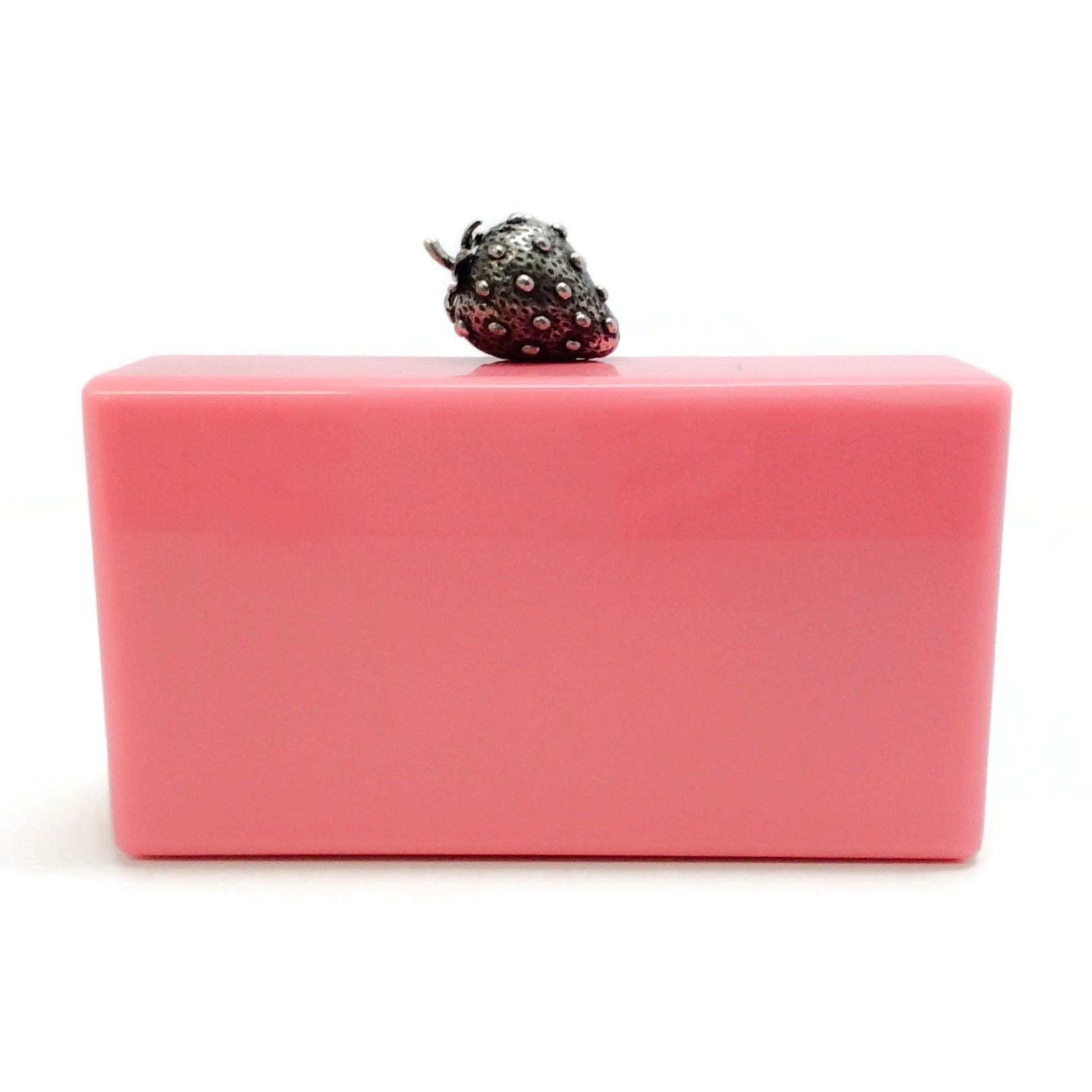 Edie Parker Jean Strawberry Pink Acrylic Clutch