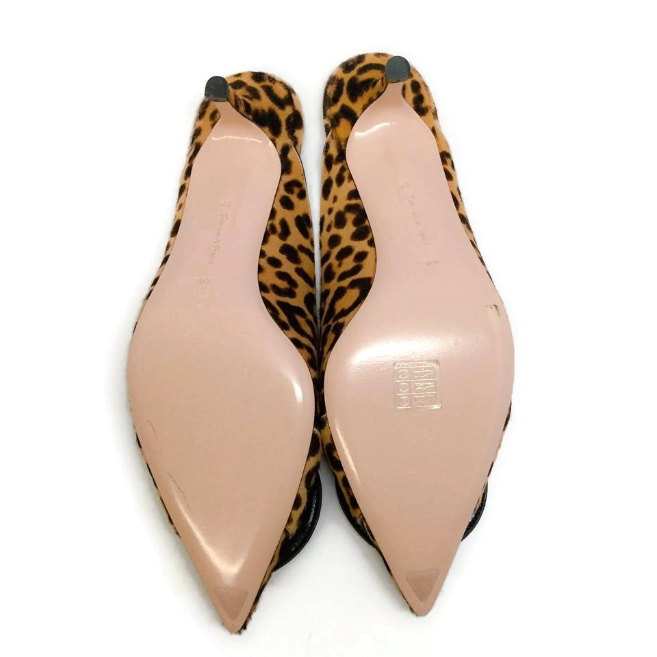 Gianvito Rossi Leopard Haircalf Ruby Mules