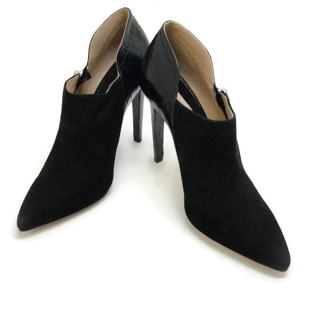 Michael Kors Black Suede and Leather Booties