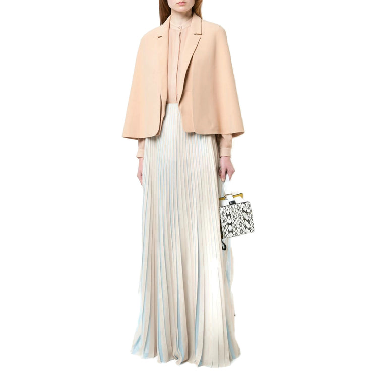 Vionnet Nude / Sea Foam Rimbaud Pleated Skirt
