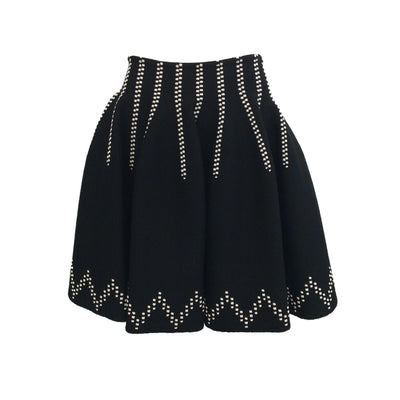 ALAÏA Black Stretch Knit Skirt
