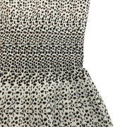ALAÏA Ivory / Brown Sleeveless Leopard Work/Office Dress