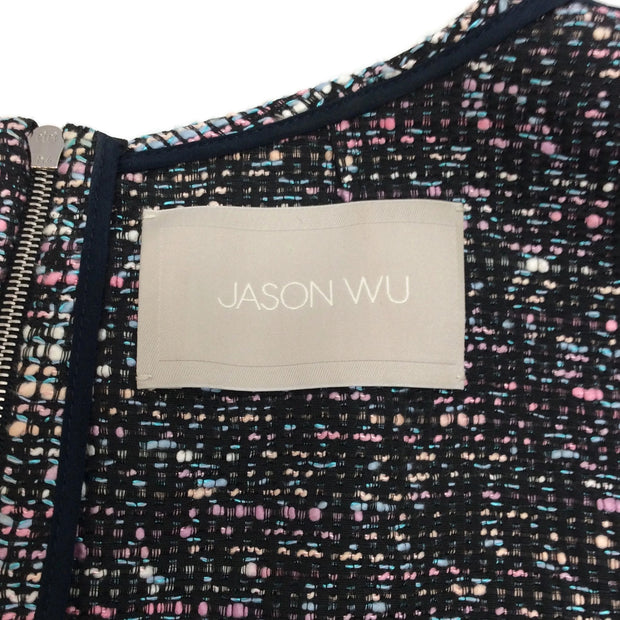 Jason Wu Pink / Black Twist Tweed Front Dress