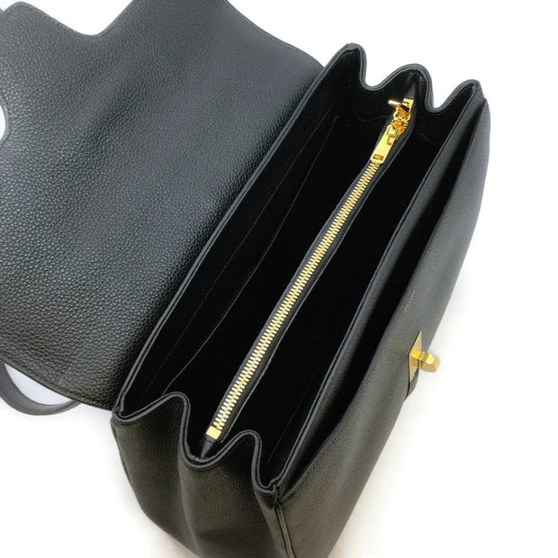 Céline Black Leather Medium 16 Satchel