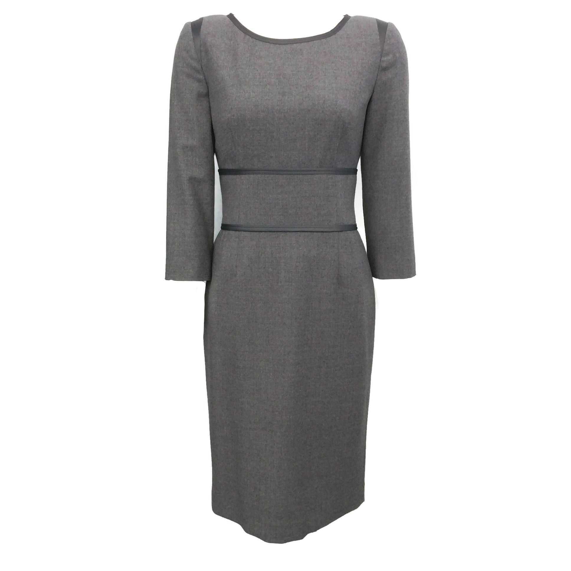 Philosophy di Alberta Ferretti Grey Three Quarter Sleeve Shift Dress