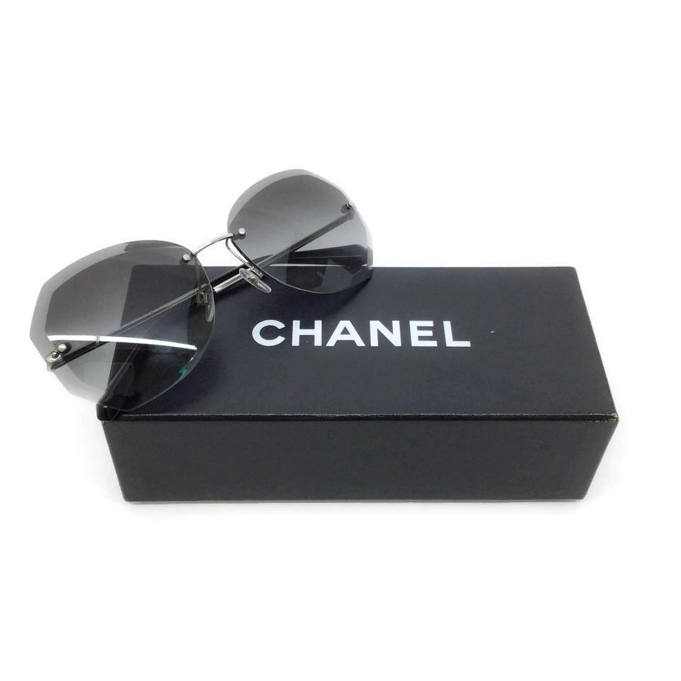 Chanel Silver / Grey Gradient Sunglasses