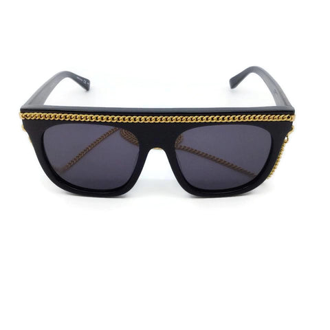 Stella McCartney Black / Gold Smoke Falabella Sunglasses