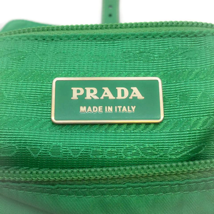Prada Green Microfiber Shoulder Bag