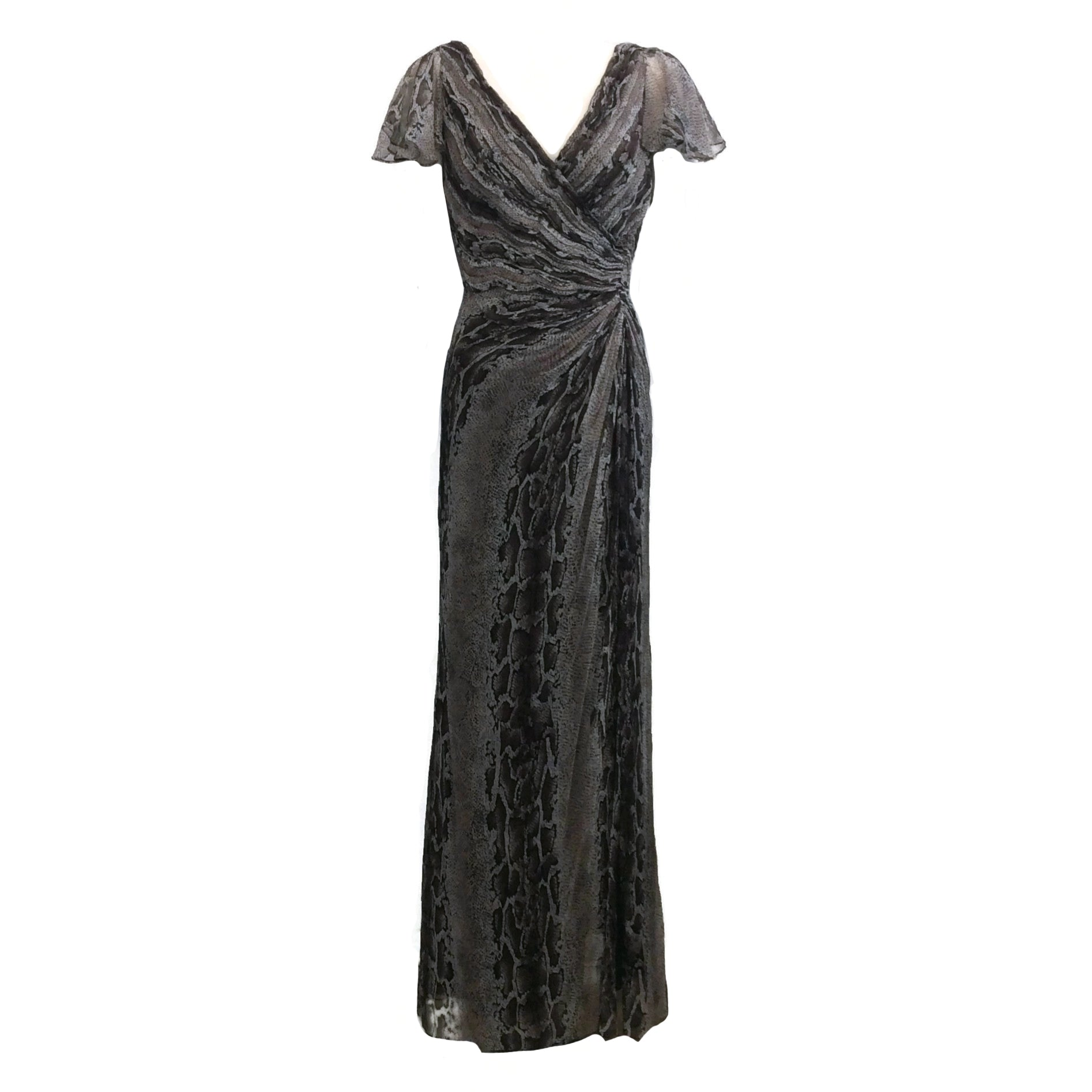 Tadashi Collection Brown Snake Ruched Formal Dress
