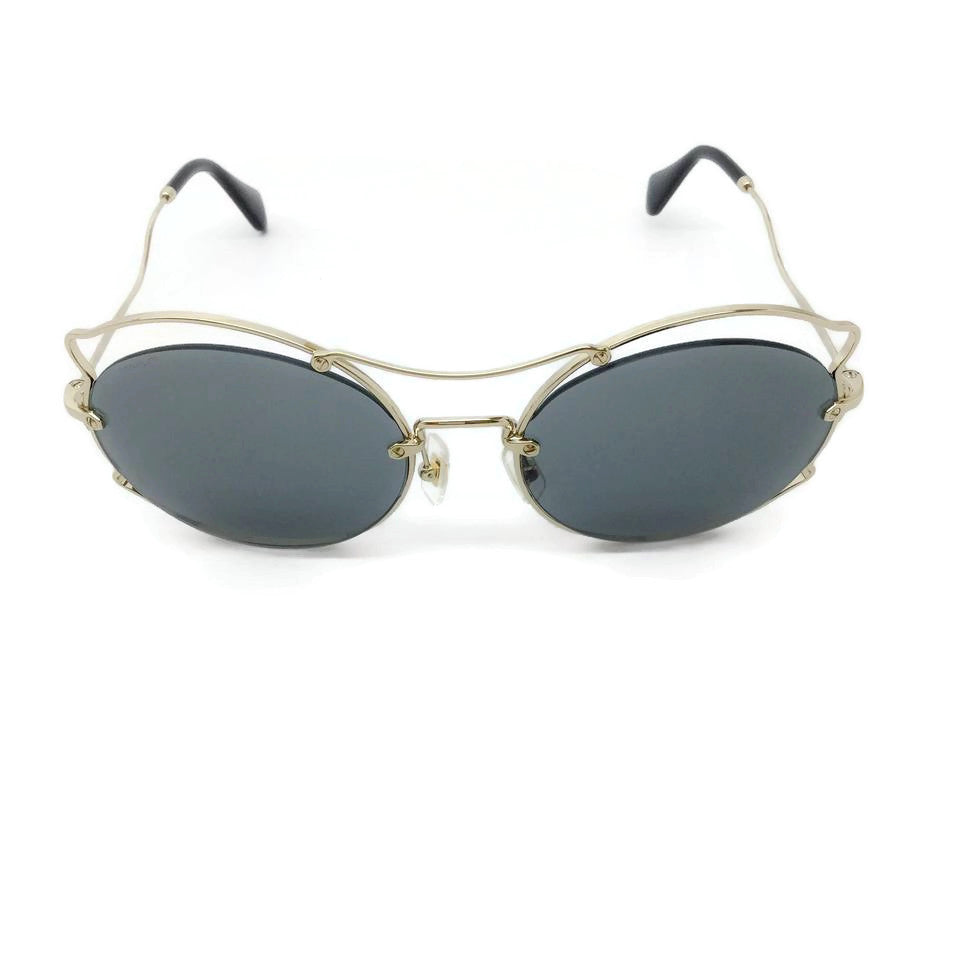 Miu Miu Gold / Black Curvy Frame Sunglasses