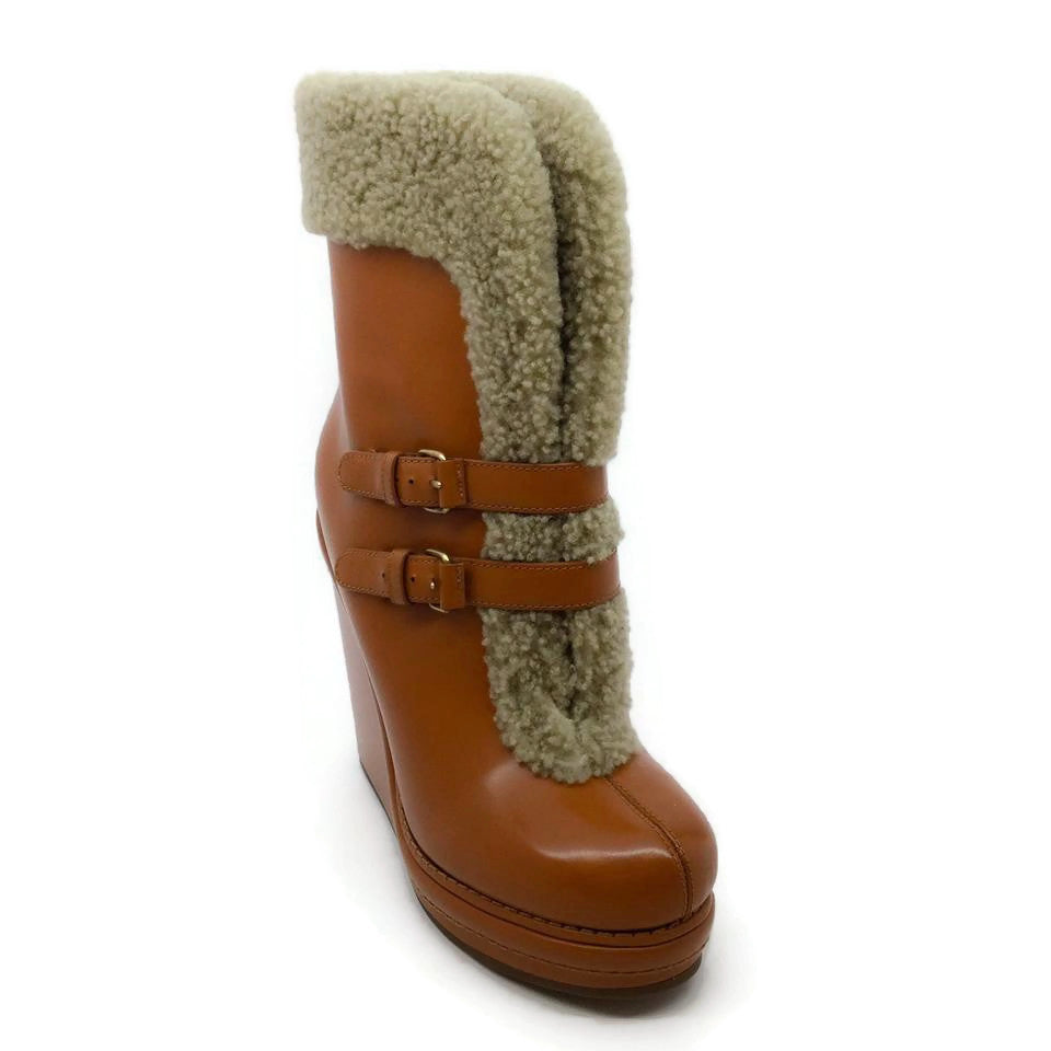 Marc Jacobs Caramel Shearling Booties