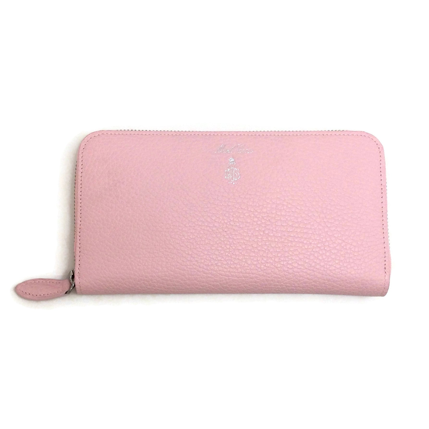 Mark Cross Pale Pink Grace Zip Wallet